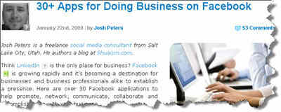 Facebook Business Applications