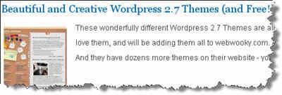 Creative WordPress 2.7 Themes