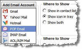 Digsby Email Accounts