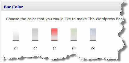 Wordpress Bar Colour