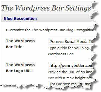 Wordpress Bar Settings