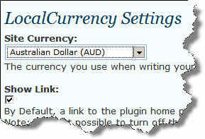 Local Currency WordPress Plugin