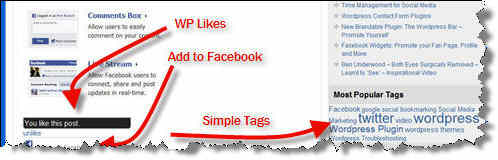 WP Likes, Add to Facebook, Simple Tags