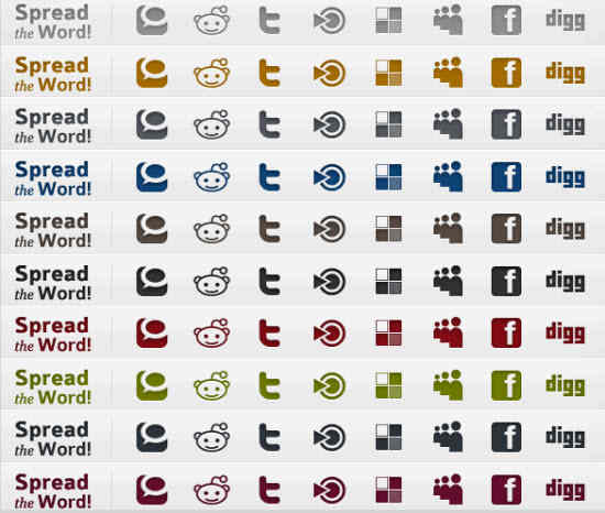 1,540 Professional Clean Social Media Icons