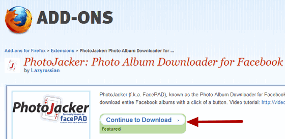 Download Entire Facebook Photo Albums with Firefox
