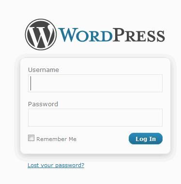 Login to WordPress