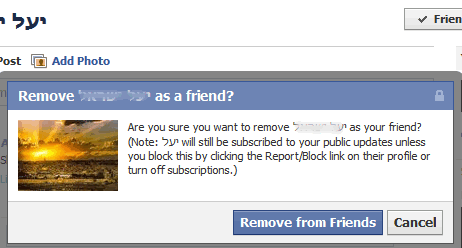 Remove Facebook Friend