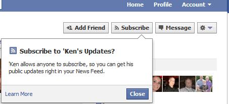 Subscribe Facebook
