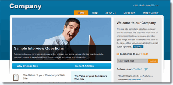 Company WordPress Theme blogohblog