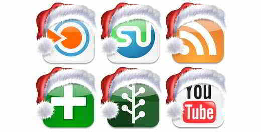 Christmas Social Bookmark Icons by Fast Icon