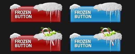 Frozen Snowy Buttons