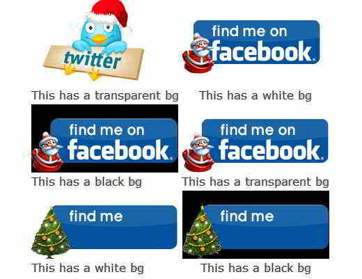 Christmas Twitter Facebook Icons