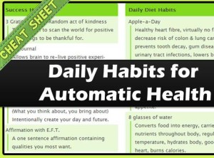 Daily Habits for Automatic Health Cheatsheet