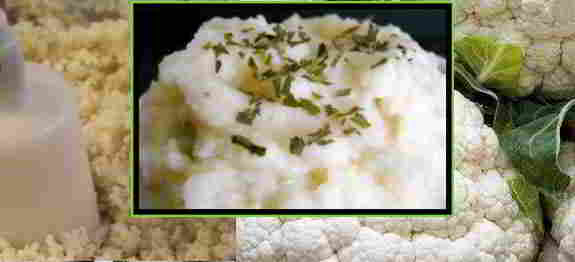 Mashed Cauliflower (Raw or Vegetarian)
