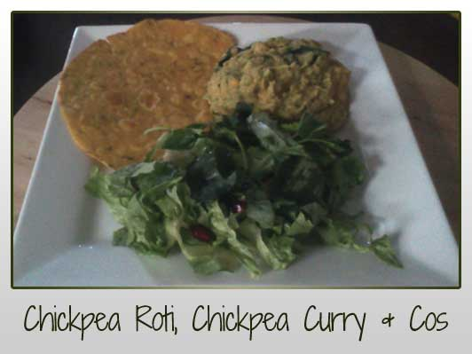 Chickpea Roti & Curry