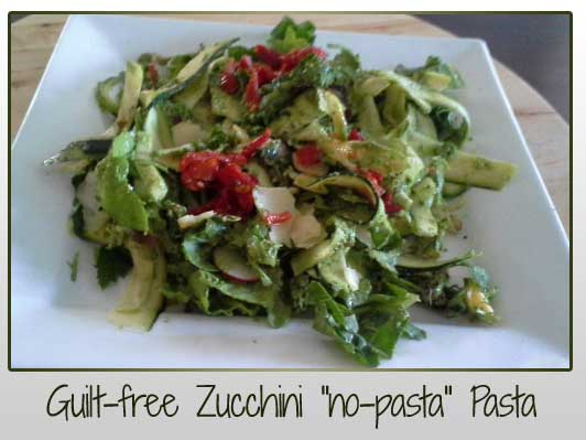 Zucchini Pasta with Creamy Avocado Pesto