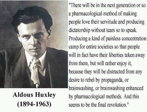 Aldous Huxley FB Conspiracy Post