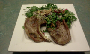 Lamb Chops & Quick Salad