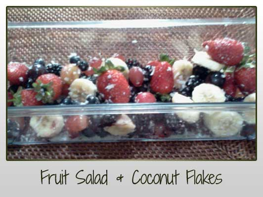 Fruit Salad Coconut Flakes