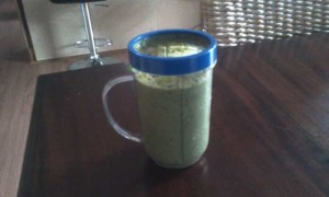 Kale, Red-leaf Lettuce, Banana, Hemp Seeds, Chia Seeds, Cucumber, Wild Rocket, Coriander, Watercress