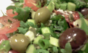 Olives Salad Closeup