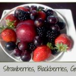 Plum Strawberries, Red Grapes, Black Grapes, Blackberries