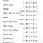 Grocery Receipt 13 Feb 2014