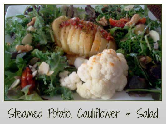 Steamed Potato Cauliflower Salad