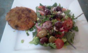 Veggie Burger & Salad