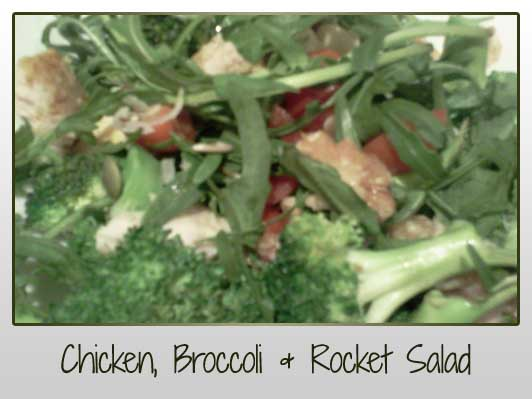 Chicken Broccoli Rocket Salad