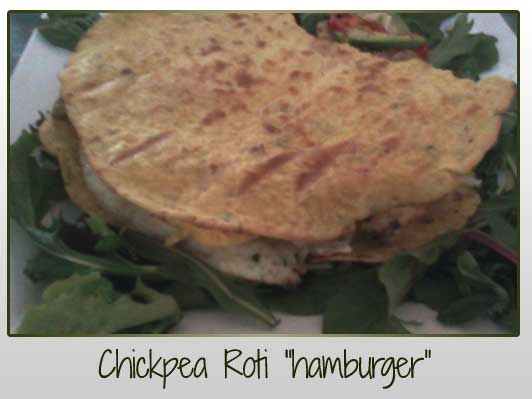 Chickpea Roti Hamburger