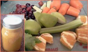 Grapes, Cucumber, Carrots, Apples, Lemon, Oranges, Celery
