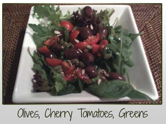 Olives Cherry Tomatoes Greens