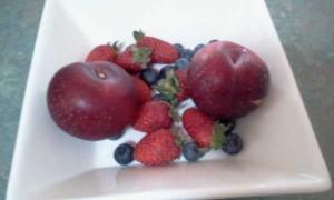 Plums, Strawberries, Blueberries