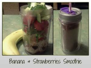 Banana & Strawberry Smoothie