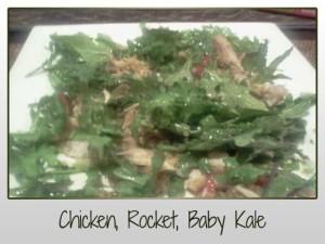 Chicken, Rocket, Baby Kale