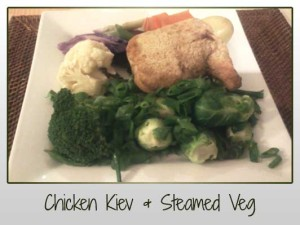 Chicken Kiev, Steamed Veg