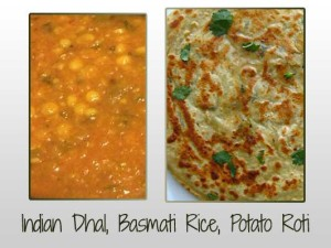 Dhal, Potato Roti
