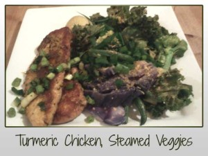 Turmeric Chicken, Steamed Veg