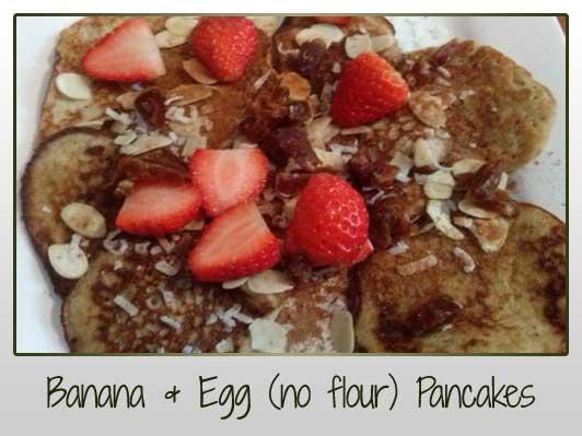 Banana Egg Pancakes (no flour)