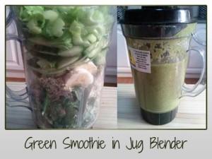 Green Smoothie in Jug Blender