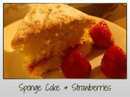 Sponge Cake & Strawberries