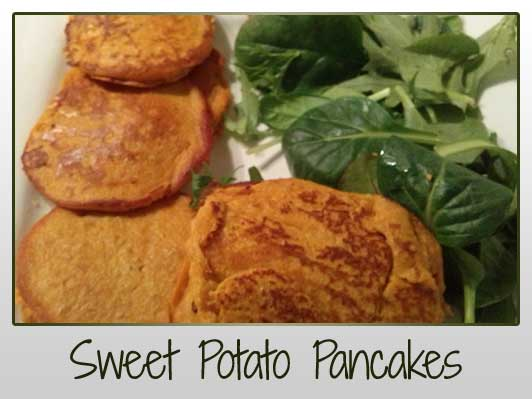 Sweet Potato Pancakes (no flour)