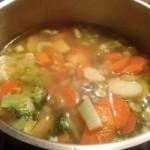 Veggie Soup - Stove Closeup