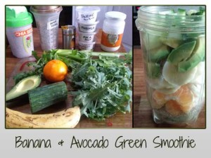 Banana and Avocado Green Smoothie