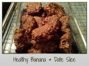 Healthy Date & Banana Slice with Oats