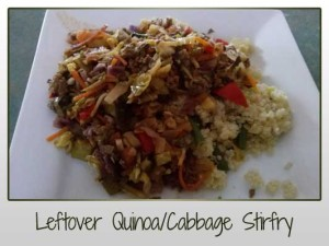 Leftover Quinoa/Cabbage Stirfry
