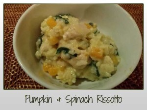 Pumpkin & Spinach Rissotto