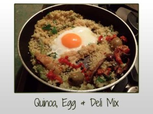 Quinoa, Egg and Deli Mix
