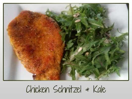 Chicken Schnitzel & Kale